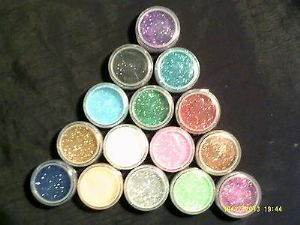 2 x 5 grams glitter pots for glitter tattoo stencils  red  white  green  gold  silver  blue  pink  orange  black